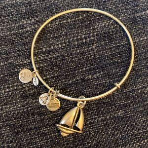 Alex and Ani Silver Sailboat Charm Bracelet